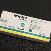 Folic Acid 1 mg 1000mcg isi 100 tablet