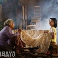 Lukisan Digital Cucu Belajar Batik (Kanvas 60cmx45cm)