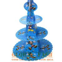 stand cupcake karakter mickey mouse / standing cupcake / 3 tier stand