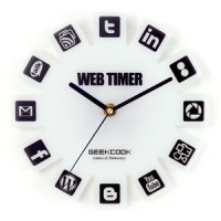 Jual Jam Dinding Besar Logo Sosial Media Sosmed Icon / Web 2.0 Timer Wall Murah