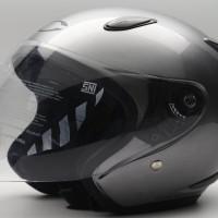 Helm Motor Cargloss Murah YCN NEW OACKLEY SILVER MET 8