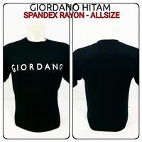 kaos spandex hitam giordano baju distro tshirt