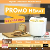 Breadmaker Re-Bread RB250 Gold Promo / VIA GOJEK