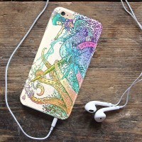 NARWHAL VS GIANT SQUID iPhone Case 4 4s 5 5s 5c 6 6s 7 Plus