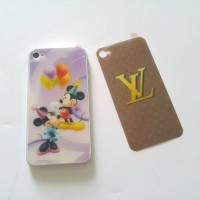 Skin sticker 3D back only iphone4 4s mickey / lv
