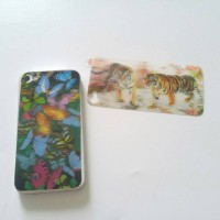 Skin sticker 3D back only iphone4 4s butterfly tiger