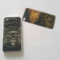 Skin sticker 3D back only iphone4 4s skull