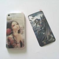 Skin sticker 3D back only iphone4 4s karakter