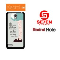 Casing Hp Xiaomi Redmi Note 1 Alice in Wonderland Quotes Custom Hardca
