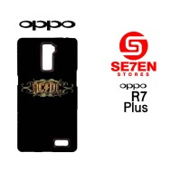 Casing Hp Oppo R7 Plus Acdc Rock Band Logo Custom Hardcase Cover
