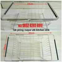 Rak Piring / Pengering Sayur / Rak Kitchen Sink / Rak Bak Cuci Piring