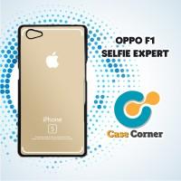 Custom Casing HP Oppo F1 Selfie Iphone Gold Strip Case,Cover,Hardcase
