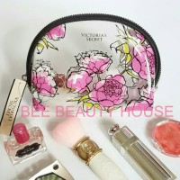 Makeup Pouch tas makeup Victoria Secret Flowery Transparent