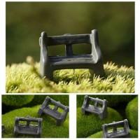 Miniature Bangku Kayu hiasan taman terrarium dekorasi taman terrarium