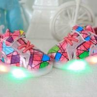 Jual LED shoes - fashion colorfull LED pink/hitam/putih Murah