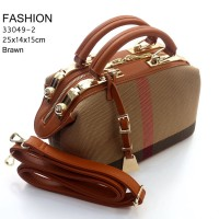 Tas Fashion Doctor Canvas Burberry COKLAT MUDA Semi Premium 33049-2
