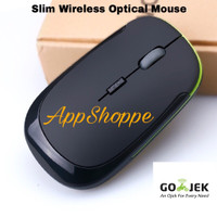 MOUSE WIRELESS Ultra Slim 2.4GHz 3500 BLACK with Greenline