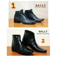 harga Sepatu Pria Formal Bally Pantofel Leather High Black Import Tokopedia.com