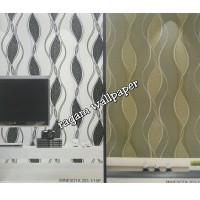 Wallpaper Kamar Ruang Tamu Minimalis Brown Leaves Elegant type 203-2