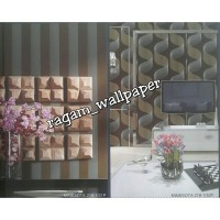 Wallpaper Ruang Tamu Minimalis Vertical Lines Dark Brown Elegant 219-1