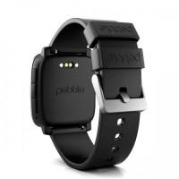 Pebble Time Smartwatch - Black Diskon
