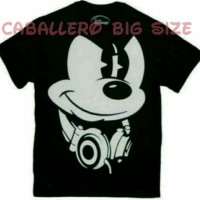 KAOS MICKEY MOUSE DJ BIG SIZE, KAOS BIG SIZE MICKEY MOUSE DJ