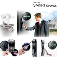 harga Samsung Digital Lock Shs P 718 Kunci Pintu Otomatis Fingerprint Push Tokopedia.com