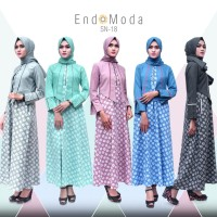 SN 18 - Endomoda /Gamis Muslim+Pashmina/Dress/Gamis Syar'i