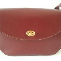 Authentic Cartier Maroon Leather Shoulder/Sling bag