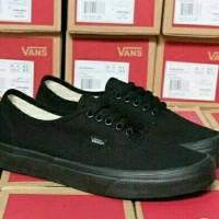 Vans Authentic Full Black Grade Original Sepatu Pria Sepatu Cowok