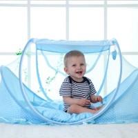 Kelambu bayi 3 in 1 dengan musik kasur dan bantal murah