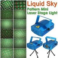 Lampu Disco di Lengkapi sensor suara musik Mini Laser Stage Lighting