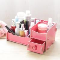 Rak kosmetik Desktop Storage bahan kayu rak serba guna