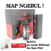 Jual Paket Ngebul Vape KangerTech Subox + AWT 3000mAh + Liquid Murah
