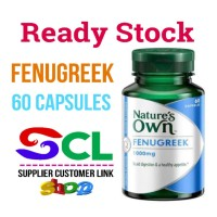 Nature's Own Fenugreek 1000 mg 60 Capsules - Booster / Perbanyak ASI