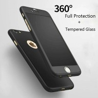 FULL COVER with TEMPERED GLASS iPhone 5 5s SE 6 6s 6Plus 7 7 Plus Case