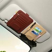 Jual Car SunVisor Card Organizer. Tempat Kartu Di Visor Mobil 4 Slot.HMB038 Murah
