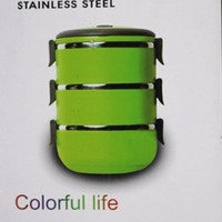 Lunch Box Stainless Steel 2.1ltr Colorful Multi Purpose Bento Limited