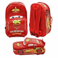 Jual OBRALL!! Tas Ransel Sekolah Anak TK Cars Mcqueen On The Road 3D M
