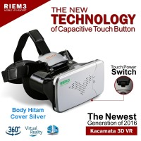 Riem 3 VR Box Cardboard 2 w/ Capacitive Touch Button,Glasses kacamata