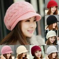 topi rajut wanita fashion korea terbaru