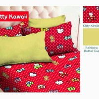 SPREI KATUN STAR KITTY KAWAII BED SINGLE UK 140/120/100/90