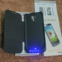 Power Case Black For Samsung S4 i9500 Flip Cover + Power Bank 4000mAh