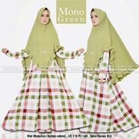 Setelan Gamis Syari Baju Muslim Wanita Modern Motif Kotak MONO