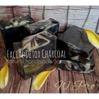 FACIAL DETOX CHARCOAL NATURAL HANDMADE SOAP - SABUN WAJAH ALAMI