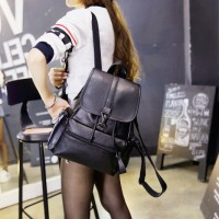 Tas Wanita Import Ransel Backpack Leather Premium Leisure