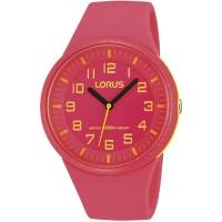 Lorus Cewek Rrx55dx9 Pink Kuning Rubber Jam Tangan Anak Original