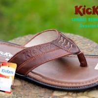 harga Sandal Kulit Kickers Original 2 Warna Tokopedia.com