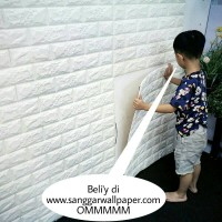wallpaper sticker wallpaper dinding foam emboses sudah ada lem