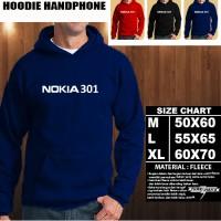 JAKET HOODIE Handphone NOKIA 301 Font/SWEATER/No Zipper/Gadget/Hp